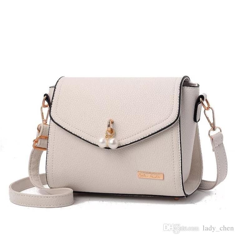 Fashion simple small handbags lady south Korean version single shoulder bag female bag soft side small square bag