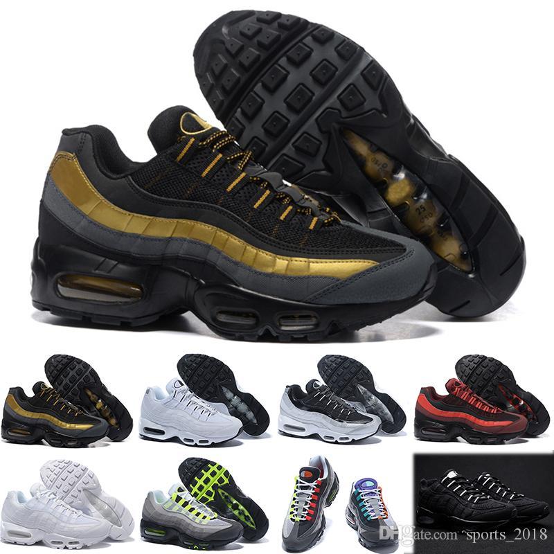 9aed9a6ee9 Compre Nike Air Max 95 Transporte Da Gota Por Atacado Tênis De Corrida Dos  Homens Airs Coxim 95 Og Sapatilhas Botas Autêntico 95 S New Walking  Desconto ...