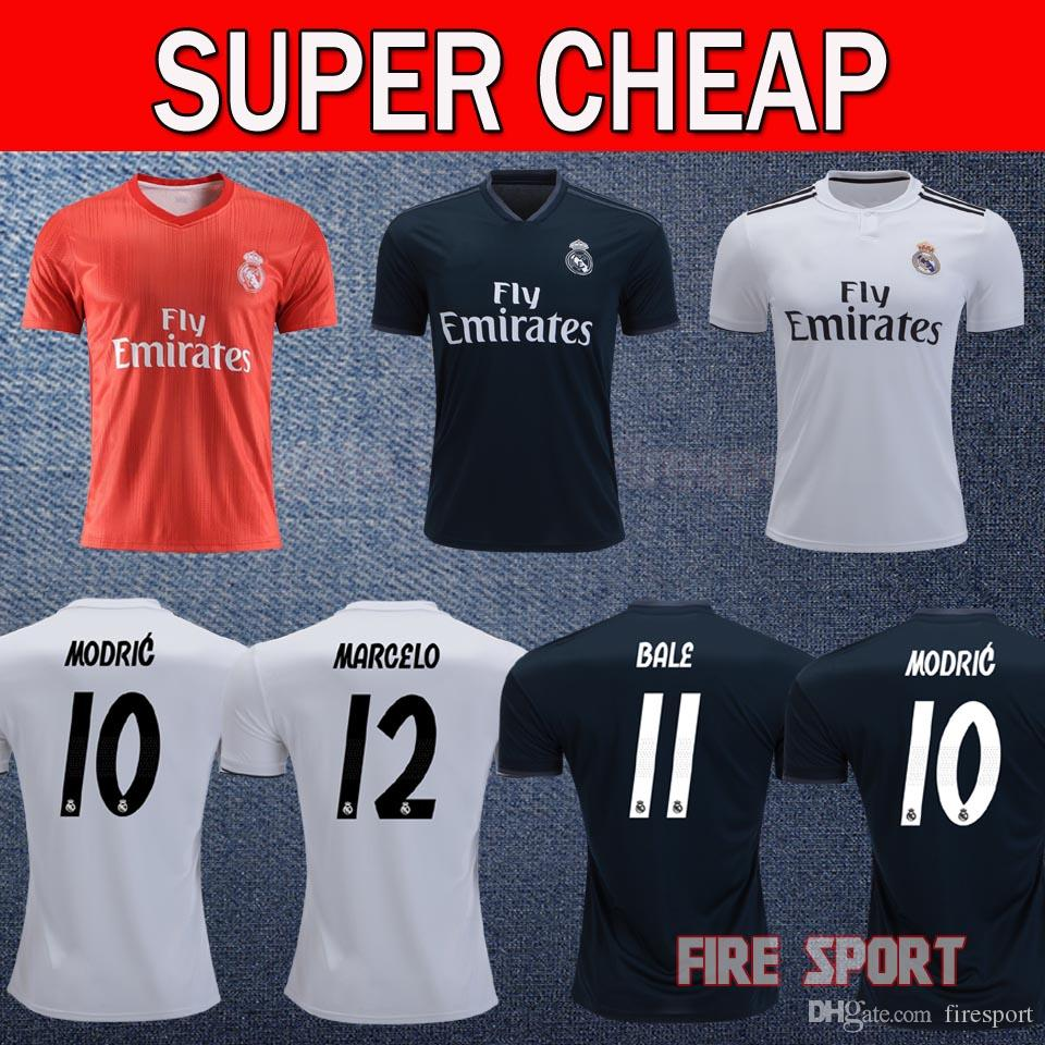 2019 2018 2019 Real Madrid MODRIC Soccer Jersey 18 19 Bale RAMOS MARIANO  MARCELO ASENSIO ISCO KROOS Home Away Third Red Football Shirts Uniforms From  ... 1ab9ac8ba