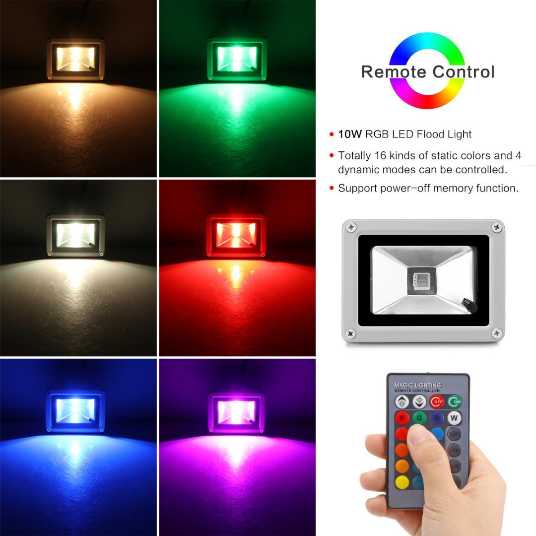 LED Flood Light RGB 10W Waterproof Outdoor Lighting Garden Landscape Lights  For Tree With Remote Control Marine Flood Lights Portable Flood Lights From  ... - LED Flood Light RGB 10W Waterproof Outdoor Lighting Garden Landscape