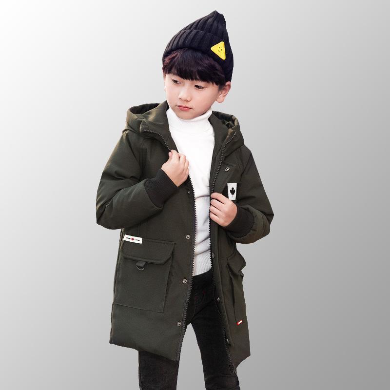 df6b320412e3f Acheter Parkas D hiver Vêtements Pour Enfants Longue Veste Chaude  Adolescente Toddler Garçons Manteaux D hiver Vers Le Bas Vestes Garçon  Veste Pour 8 10 12 ...