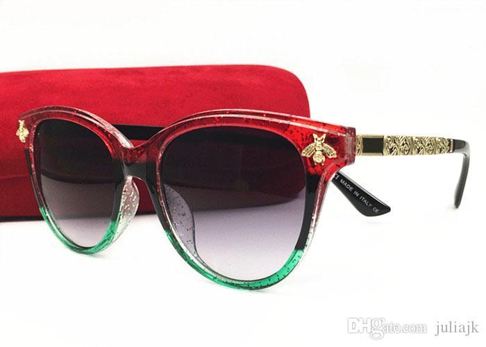 Acheter 2018 Italie De Luxe Abeilles Lunettes De Soleil Femmes Cat Eye  Cadre Vintage Marque Lunettes Designer De Mode Femme Ombres Lunettes Avec  Boîte De ... 4524cc2b6b62