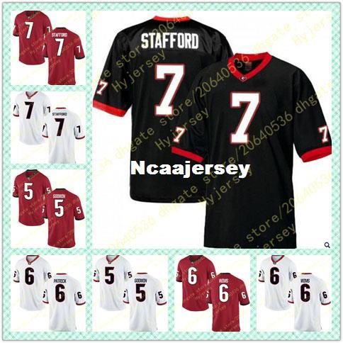 various colors eedd2 48a5e Cheap Mens Terry Godwin Jersey Javon Wims Natrez Patrick Matthew Stafford  Georgia Bulldogs Alumni Stitched Black Red White Football Jerseys