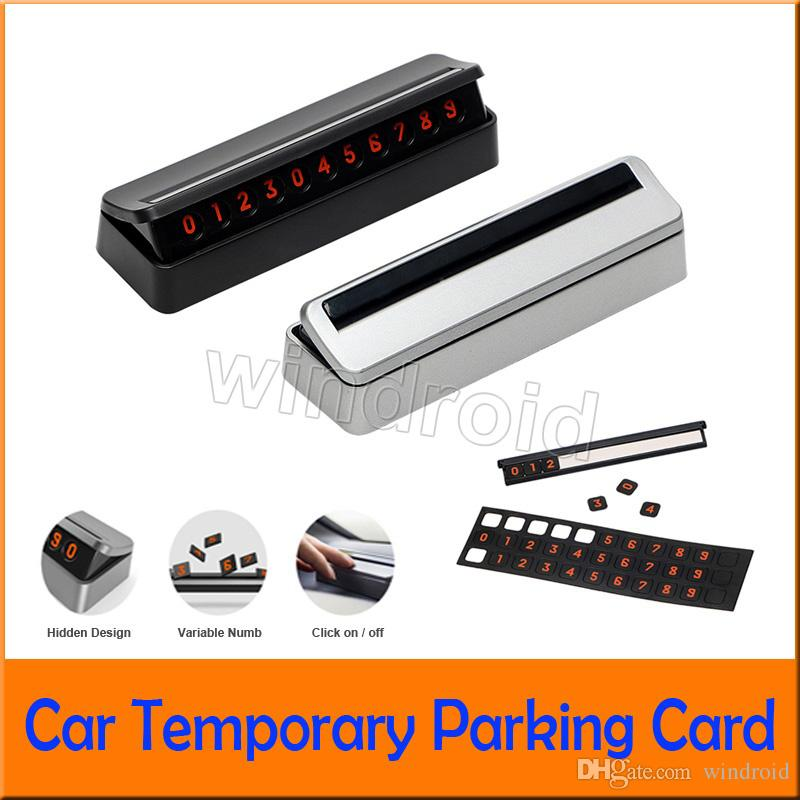Car Temporary Parking Card Mobile Phone Number Card Hidden Replace Car Sticker Drawer Plate Rocker Switch Auto Accessories cheap 100pcs