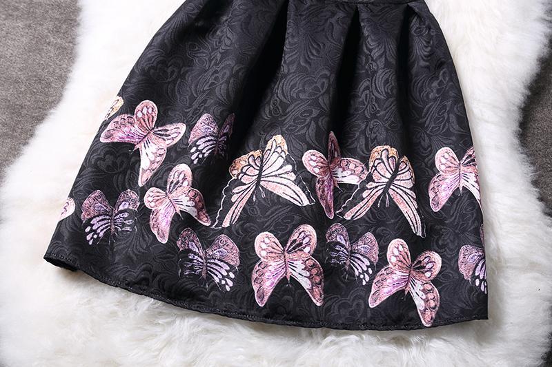 Vestiti delle ragazze di estate Farfalla Stampa floreale Adolescenti Vestito le ragazze Vestiti Vestito da principessa formale Vestito da bambino Bambini Vestido