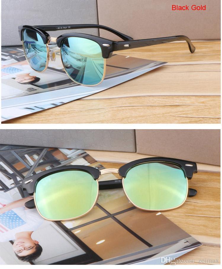 Gafas de sol de moda para hombres y mujeres Diseñador de marca Gafas de sol de deporte Vintage con estuche y caja
