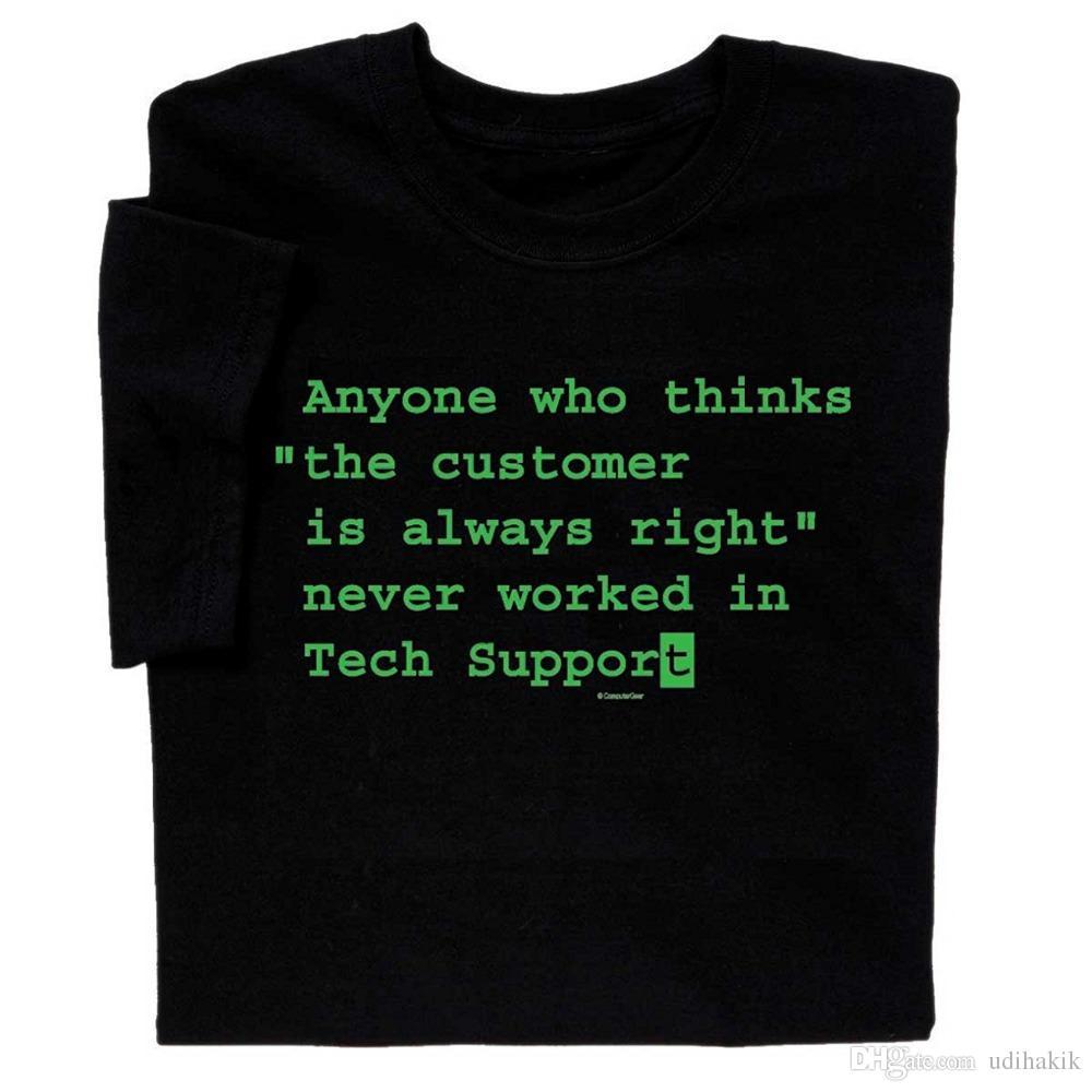 Grosshandel Lustige Spruche Computer T Shirt Tech Unterstutzung Geek