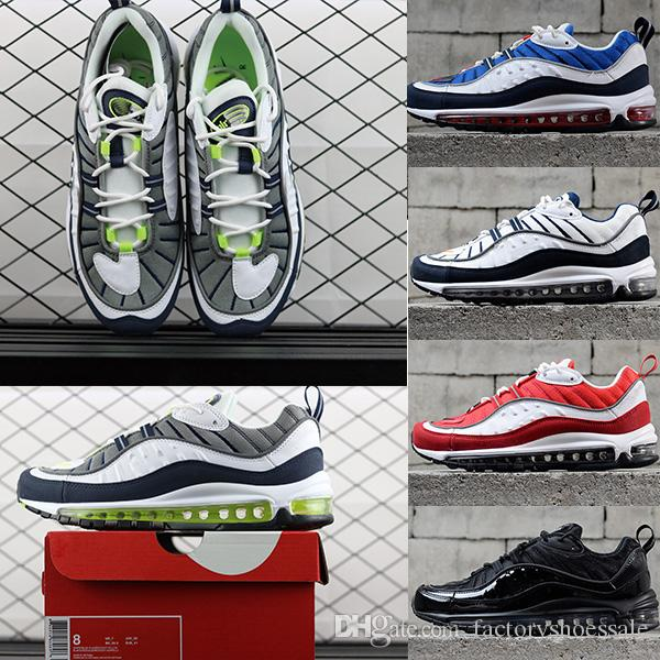 04ed1205ee39e5 2018 Fashion 98 Shoes Sup Gundam Vibrant Sports Running Shoes Black White  Red Casual Shoes Brand Trainers Designer Supre Trainers Sneakers Silver  Shoes ...