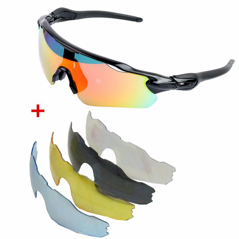 69e913eba8 2019 5 Lens Bike Sunglasses MTB Polarized Cycling Glasses Bicycle Fox Rudis  Radar Sport Goggles Eyewear Evade Prevail Valegro Red D From Cbaoyu