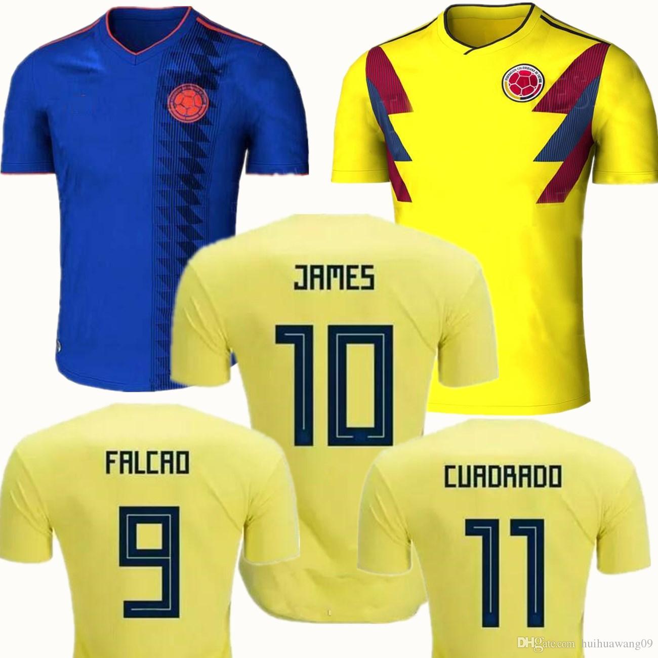 Acheter 2018 Colombie Maillots James Rodriguez Camisas 18 19 Falcao  Cuadrado Teo Bacca Sanchez Domicile Extérieur Coupe Du Monde De Football  Maillots De ...