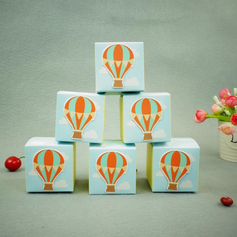 Hot Air Balloon Birthday Boy Baby Shower Favors Boxes Baby Shower
