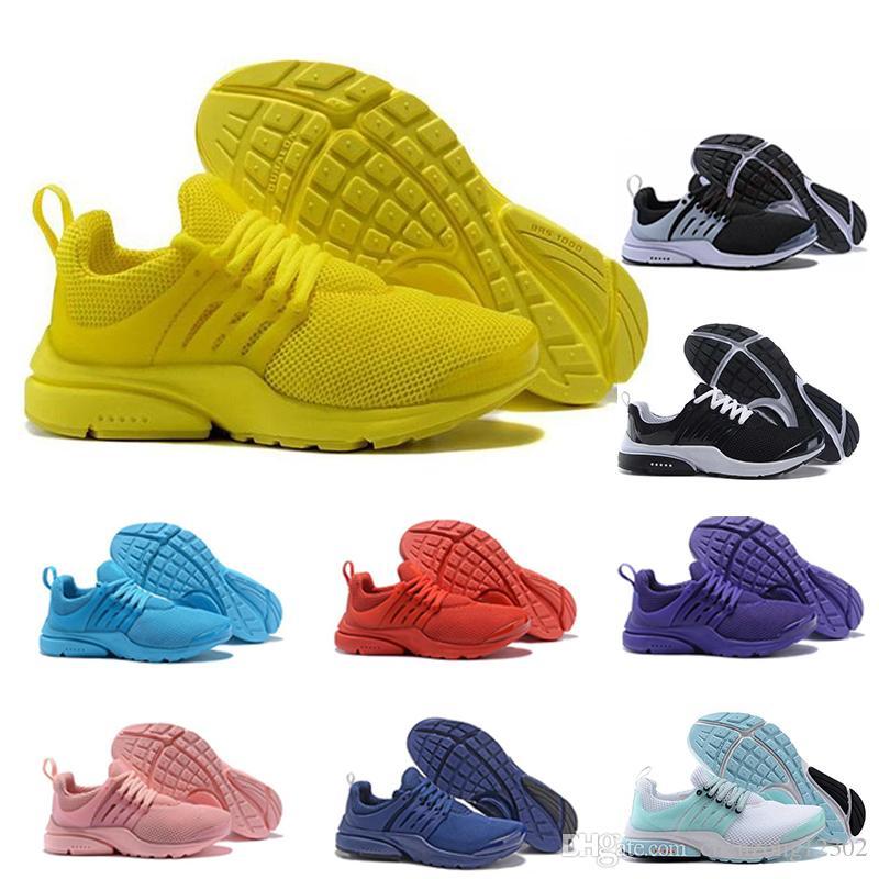 new arrival d0172 fc85b Acheter 2018 Hot Presto 5 BR QS Noir Blanc Tous Jaunes Rouge Chaussures De  Course Hommes Et Femmes Prestos V Casual Jogging Extérieur Sports Sneakers  De ...