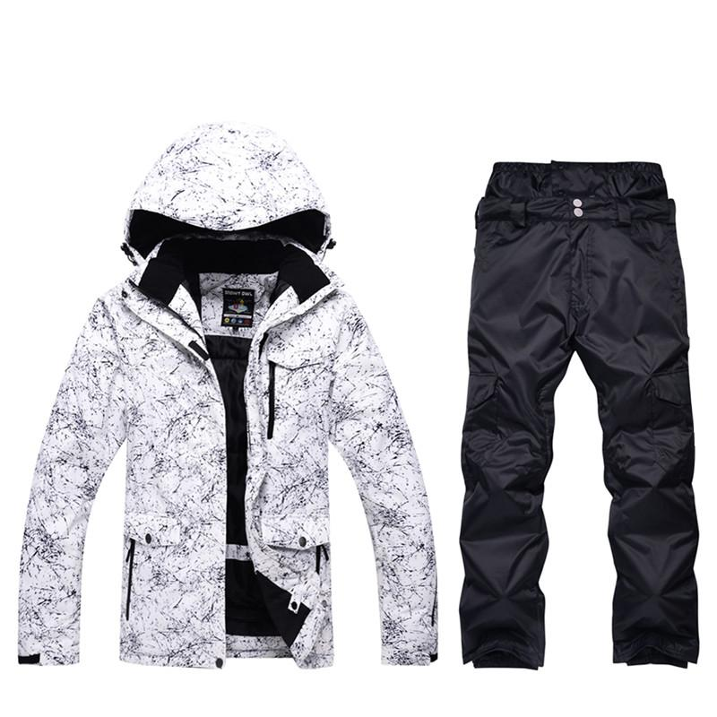 High Quality Winter Men s Professional Snowboard Set Outdoor Waterproof  Windproof Ski Suit Set Snow Jacket And Warm Pants Snowboarding Sets Cheap  ... 4dca59cac