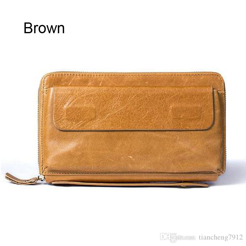 290d90c5ba90 High Quality Wholesale Fashion Young People Business Soft Brown Coffee  Genuine Leather Wallet Mens Medium Size Purse 9043 Hobo Wallet Ladies  Wallets From ...