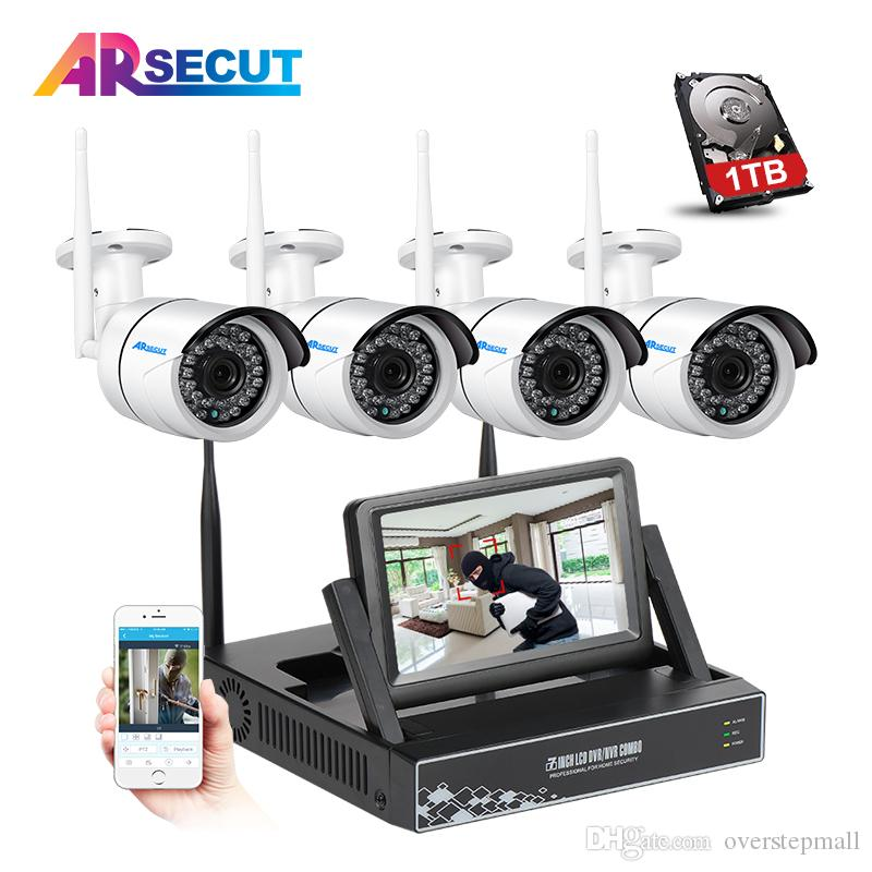 4CH 1.3MP Wireless NVR Video Surveillance Recorder CCTV System+7 ...