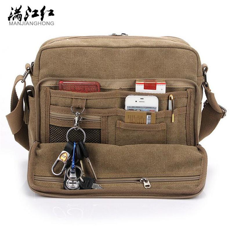 532054ba3065 MANJIANGHONG Vintage Men s Messenger Bags Canvas Shoulder Bag ...