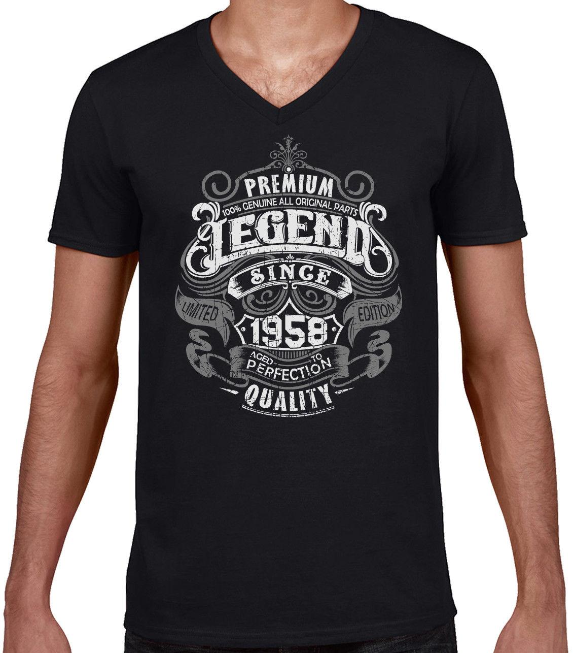 983c2ee0f Premium Legend Since 1958 60th Birthday Mens Funny T Shirt 60 Year Old Top  Gift Best T Shirt Sites T Shirt Shopping From Tomseng, $11.01| DHgate.Com