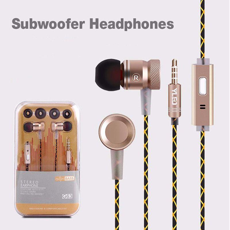 ab54b4b6d76 3.5mm Wire Earphone Super Bass Metal In Ear Earbuds With Microphone Stereo Earphones  For IPhone 6s For Samsung Huawei Xiaomi Sport Earphones Best Headphones ...