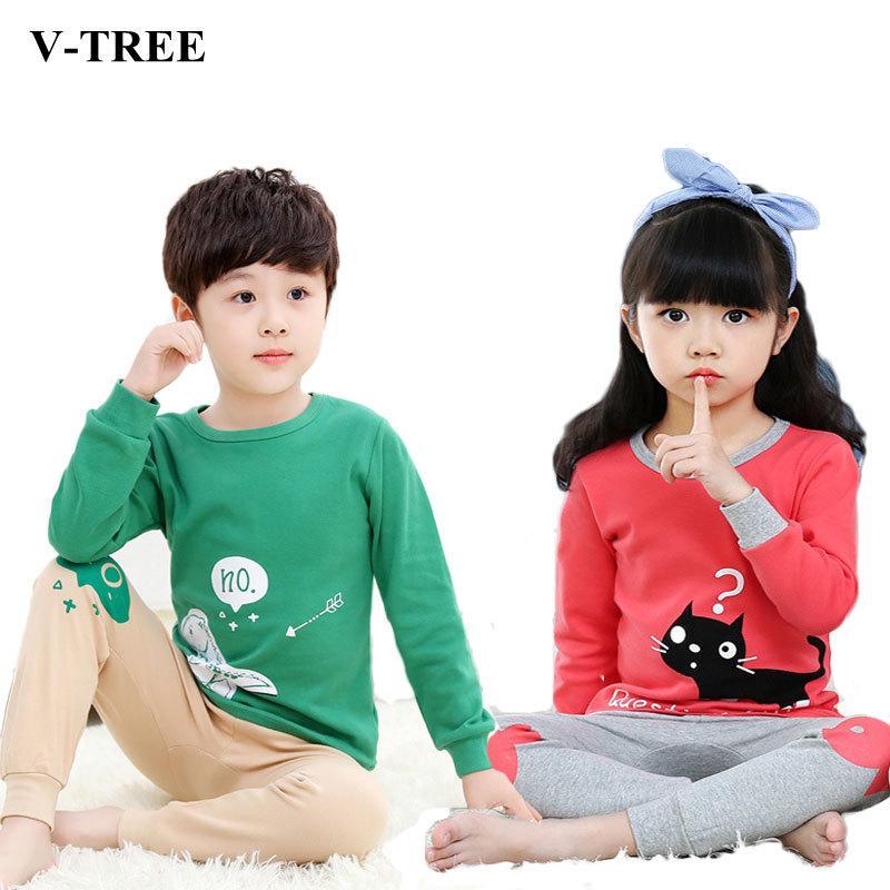 a61816466287 V TREE Children S Pajamas Cotton Pajamas For Girls Boys Pyjamas ...