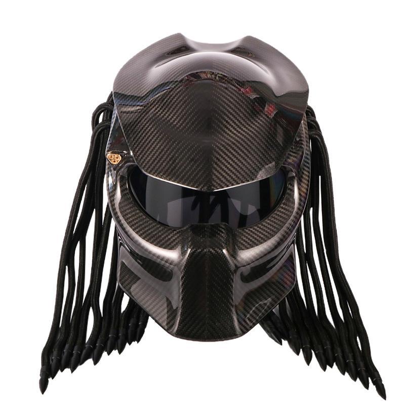 Original Predator Helmet Visor Transparent Black Lens Gold Red Motorcycle Shields Speakers From Ayintian 605