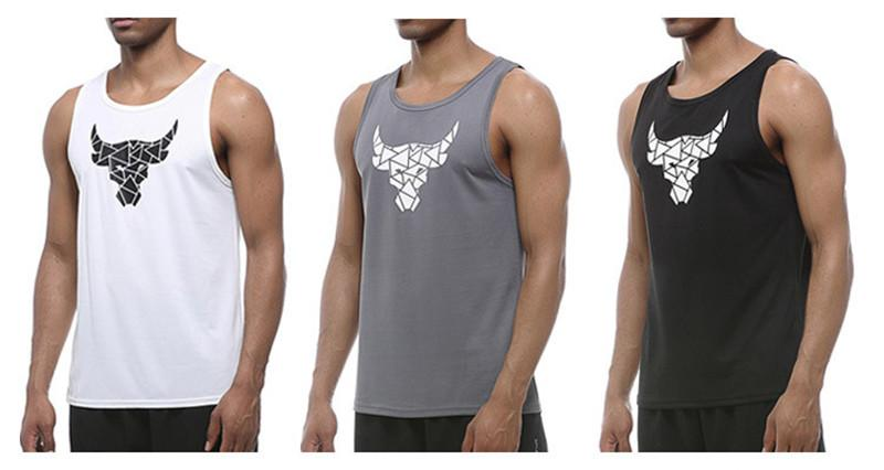 399e6f75c8c Running vest Fitness T Shirts For Men tank top gym Sports shirt Training  Running Sleeveless Tee Tops Basketball Football Jerseys