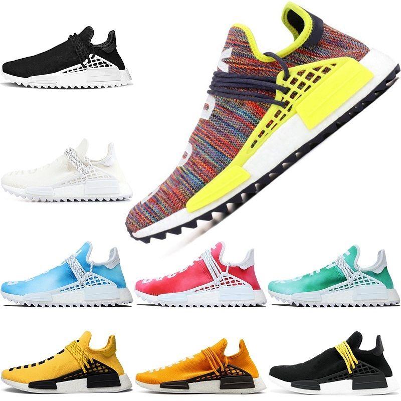 d210aec163a7f 2019 Top Human Race Trail Running Shoes Pharrell Williams Hu For Men Women  Nerd Black White Yellow Cheap Designer Sport Sneaker Wholesale From ...