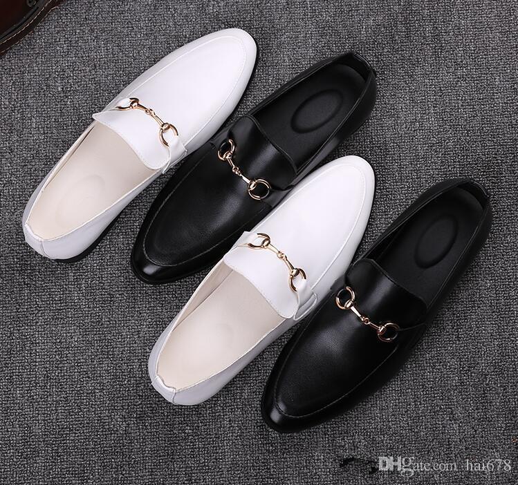 0e78bc3c249 Acheter Hommes Chaussures De Luxe Marque En Cuir Véritable Casual Conduite  Oxford Oxfords Chaussures Hommes Mocassins Mocassins Chaussures Italiennes  De ...