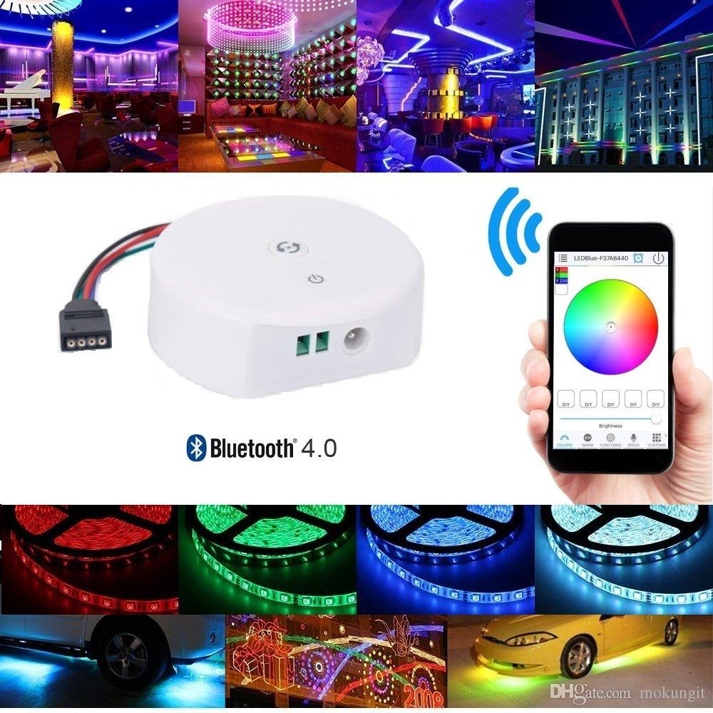 Bluetooth Led Strip Light Controller Waterproof Flexible Rgb The Strips In My Device Use Ws2801 Uses A Rope Kit For Ios Android App Contro Ws2812b
