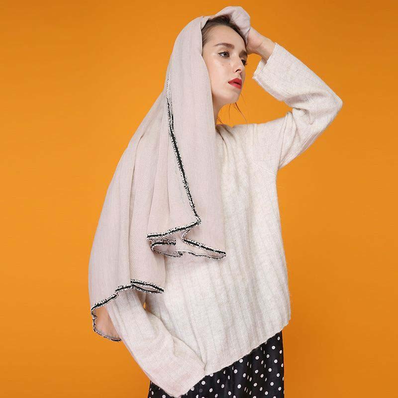 61015d29435 2018 Fashion Crinkle Hijab Silk Scarves China Bandana Women Shawl ...