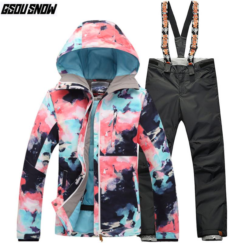 GSOU SNOW Brand Ski Suit Women Ski Jackets Pants Snowboard Sets Winter  Waterproof Skiing Suits Outdoor Snowboarding Clothing UK 2019 From  Longanguo 06767f0f7f