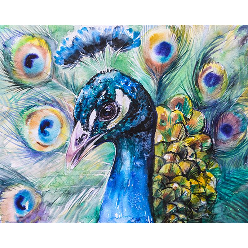 Satın Al 5d Diy Mozaik Sanat Iğne Elmas Boyama Tavuskuşu Taklidi