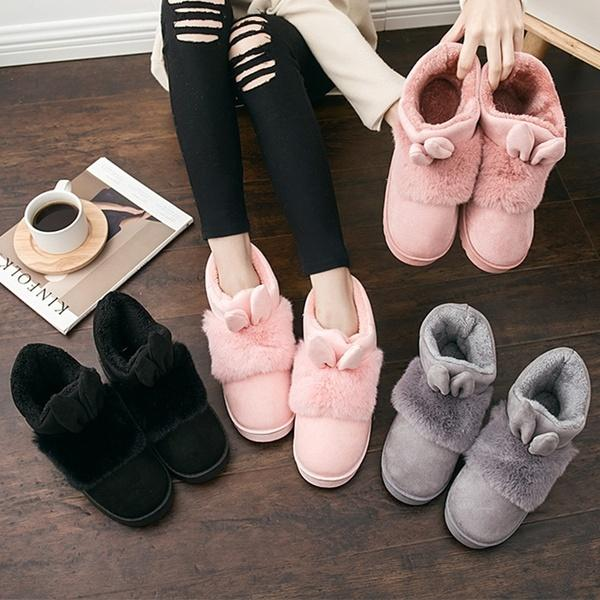 New Winter Women Slippers Indoor Floor Shoes Female Warm Home Slippers Cotton Slippers for Women Shoes Snow Boots Spring and Autumn