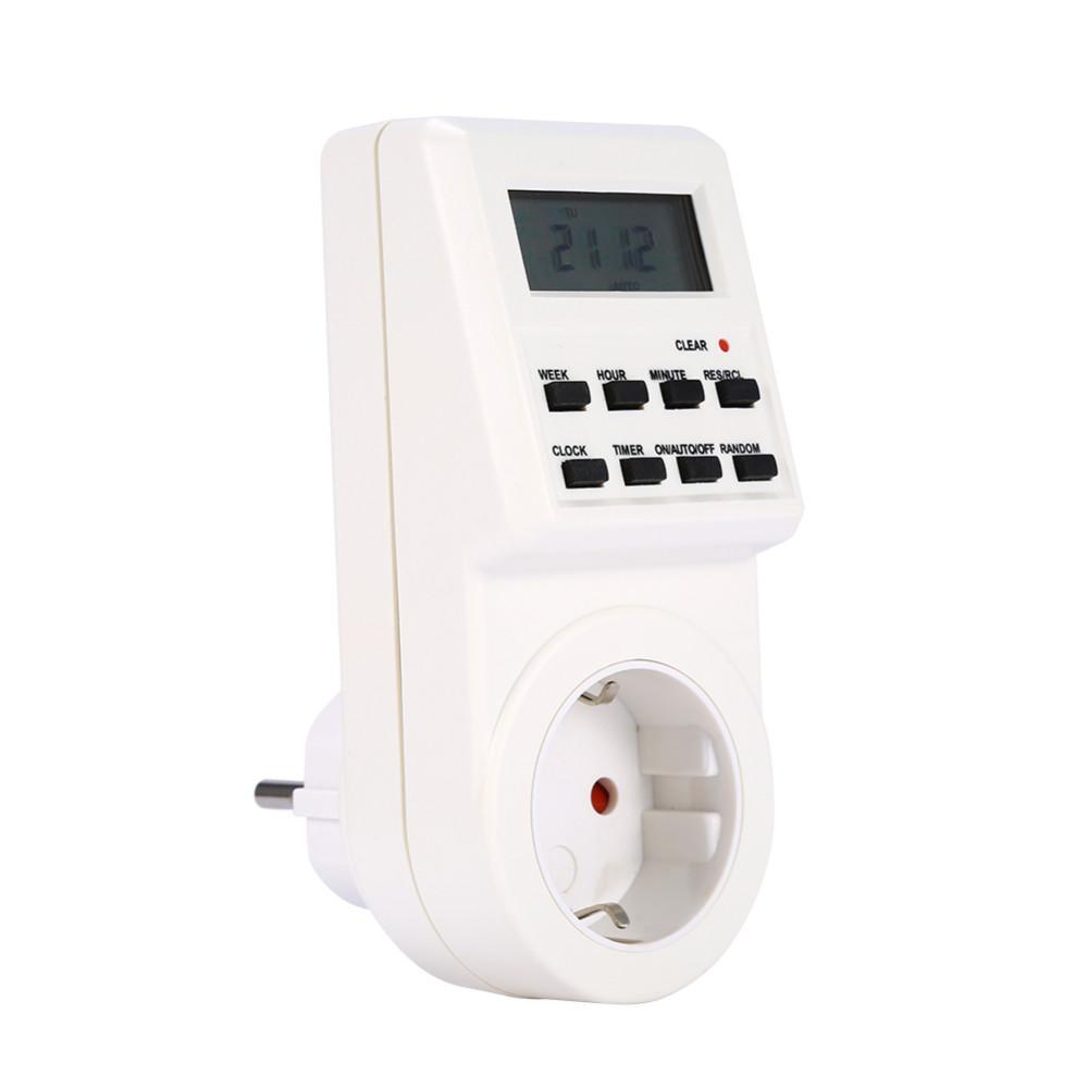 Stunden 7 Tage / Woche EU / US / UK / AC-Stecker Programmierbarer Timer Schaltsteckdose Digital LCD Elektronisches Plug-in Smart Home
