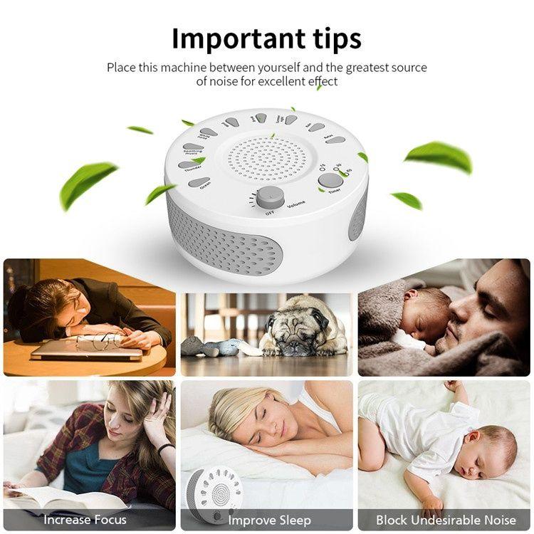 White Noise Machine Baby Sleep Therapy Regulator Natural For Baby