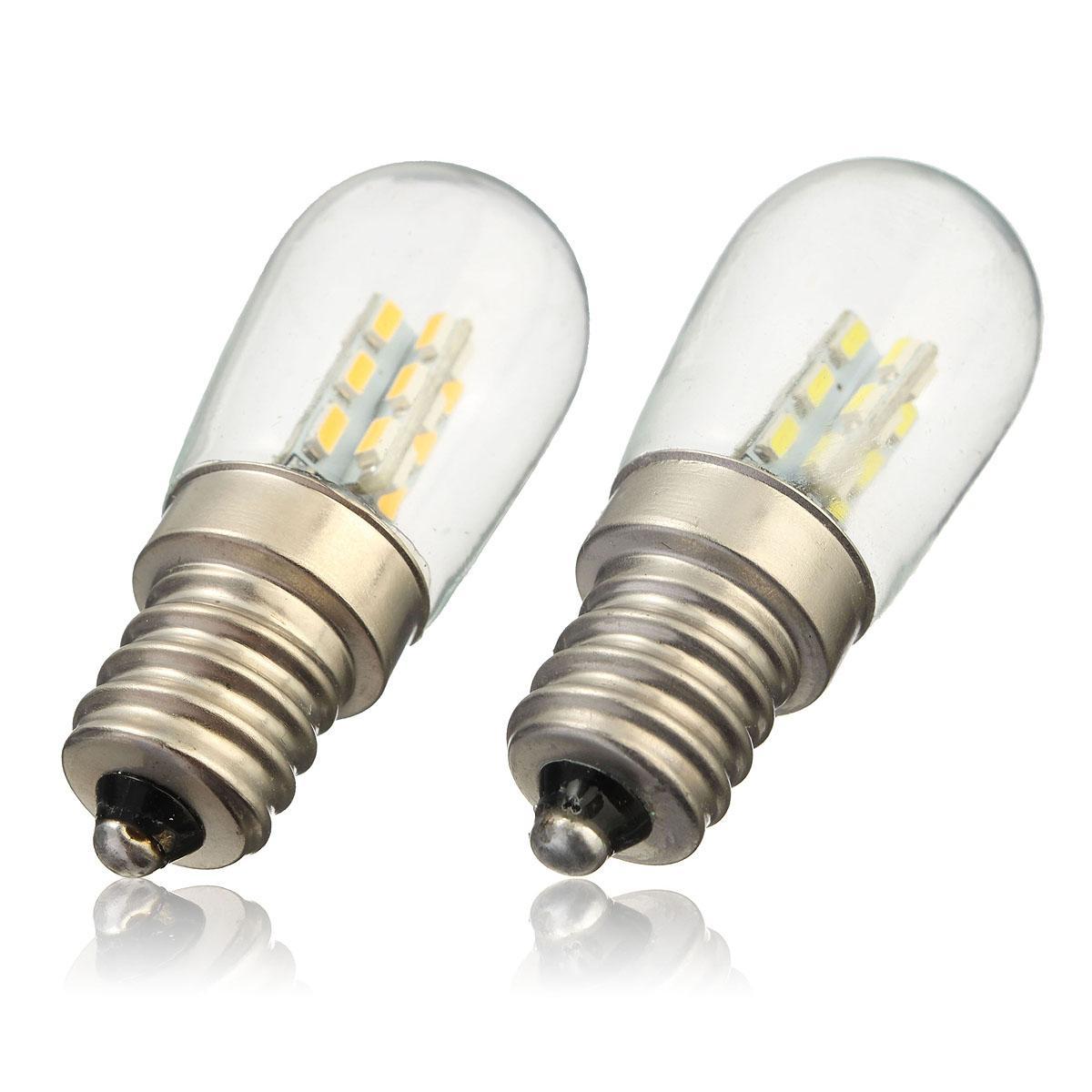 Lumière À Machine E12 Réfrigérateur 3014 Pour 2w Ampoule Lampe Blanc Coudre Led Luminosité 220v En Chaude Verre Smd Pur Haute 24 34Aq5jLR