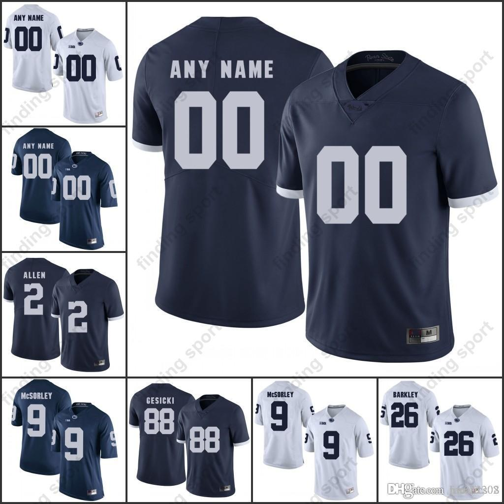6b260af92 Custom NCAA Penn State College Football Jerseys Any Name Number 2 ...