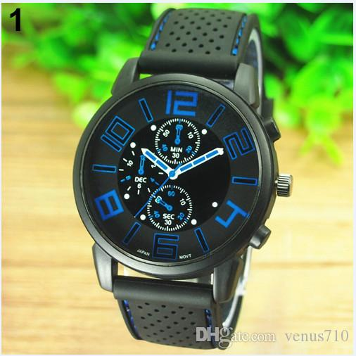 9a0464f828c Men s Casual Sports Stainless Steel Silicone Band Quartz Analog ...