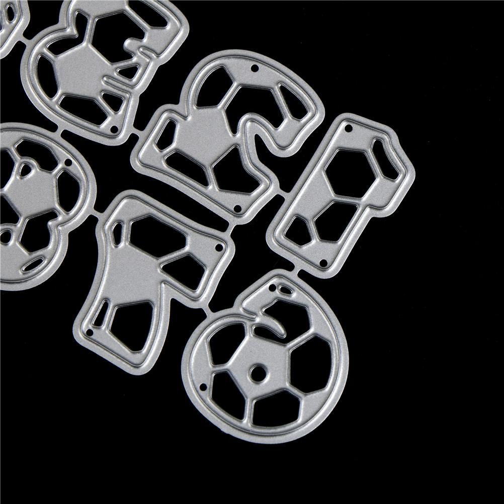 10pcs American Football Figures Metal Cutting Dies Diy Paper Craft Embossing Dies Scrapbooking New Arrival