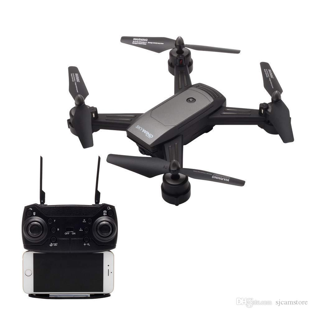New RC Helicopter = Optical Flow Dual Lens Gesture Photo Remote Control RC  Helicopter Drones With 720P Camera HD Wifi Drone Toy with Package