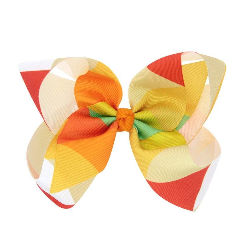 Regenbogen Jojo Bögen für Mädchen Mix Farben Haarbögen für Kinder Trendy Kinder Haarschmuck Geburtstagsfeier Dressing Up DIY Kit