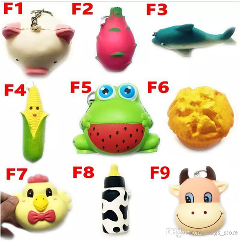 Squishy Toy frog cake Animal chicken dolphin corn squishies Slow Rising 10cm 11cm 12cm 15cm Soft Squeeze Cute gift Stress children toys