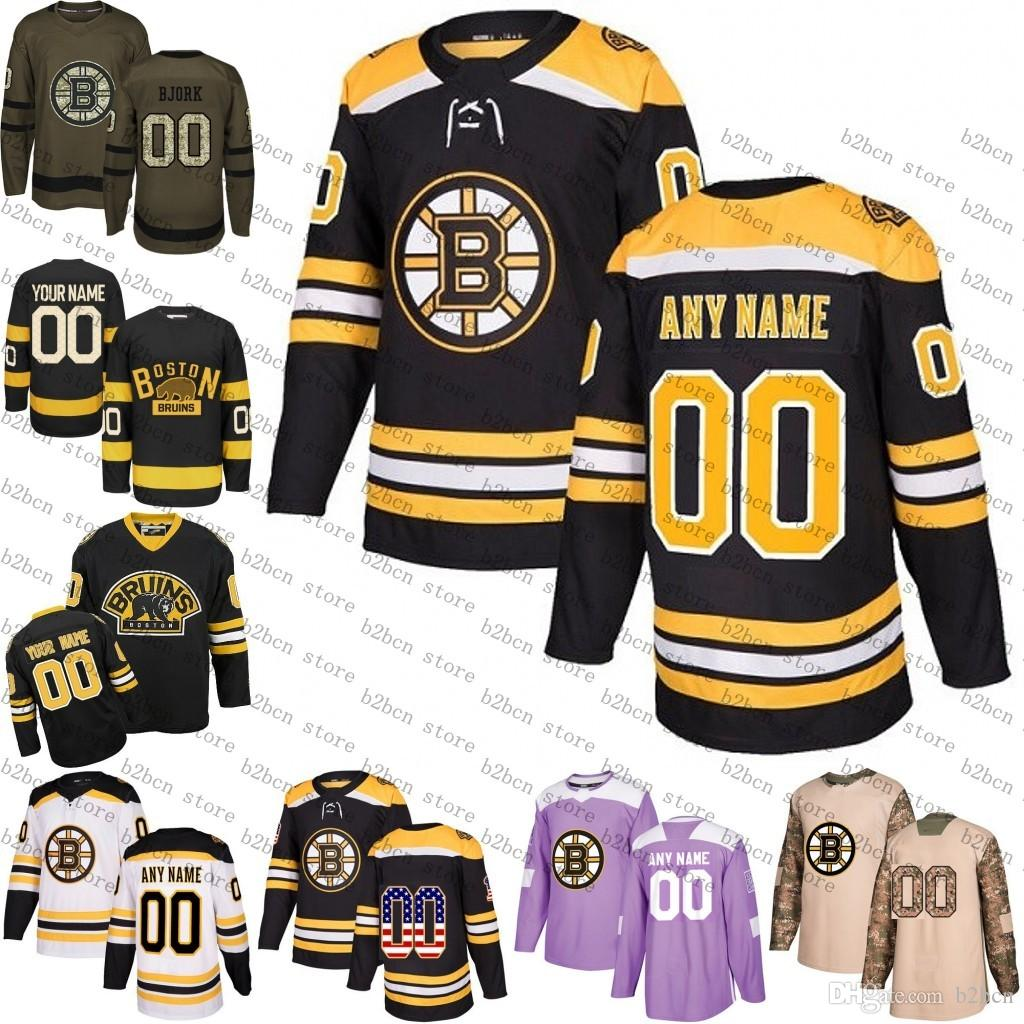2018 Custom Boston Bruins Mens Womens Youth Black Winter Classic Customized  White Black Third Yellow Ice Hockey Jerseys Stitched S-3XL Boston Bruins  Jersey ... f3b04ac80e