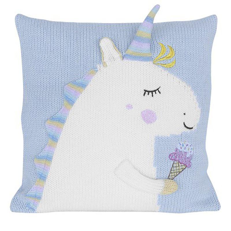 45*45cm Unicorn Doll Unicorn Plush Toy Cartoon Unicorn Knitted Pillow Cartoon Accessories Kids Xmas Gifts