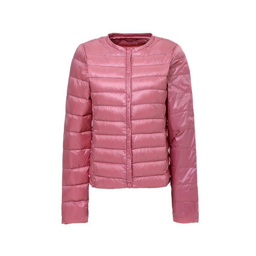 online retailer ca2e1 93b5e Piumino leggero da donna autunno inverno caldo Piumino antracite bianco  ultraleggero Parka Capispalla plus slim sottile cappotto corto A515