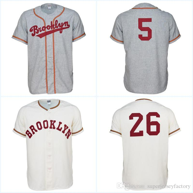 090e27a17 2019 Brooklyn College 1956 Home Jersey Any Player Or Number Stitch Sewn All  Stitched High Quality Baseball Jerseys From Superjerseyfactory