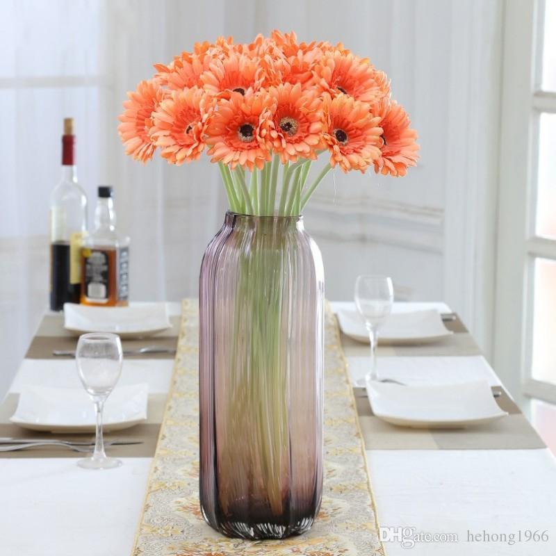 Flor De Seda Artificial Lifelike Simulação Daisy Falso Flores Decorativas Multi Cor Vaso Interior Bouquet New Arrival 1 6lx KK