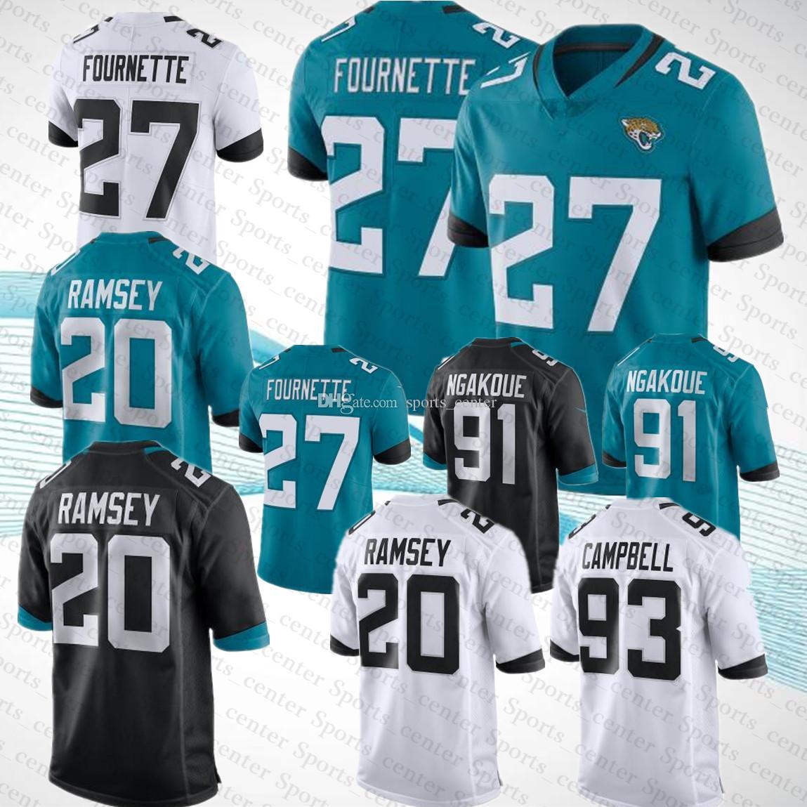 Compre Mens Jacksonville Jaguars Jerseys 20 Jalen Ramsey 91 Camisas De  Futebol De Leonard Fournett 93 Calvin Campbell 50 Yannick Ngakoue 27 De  Sports_center ...