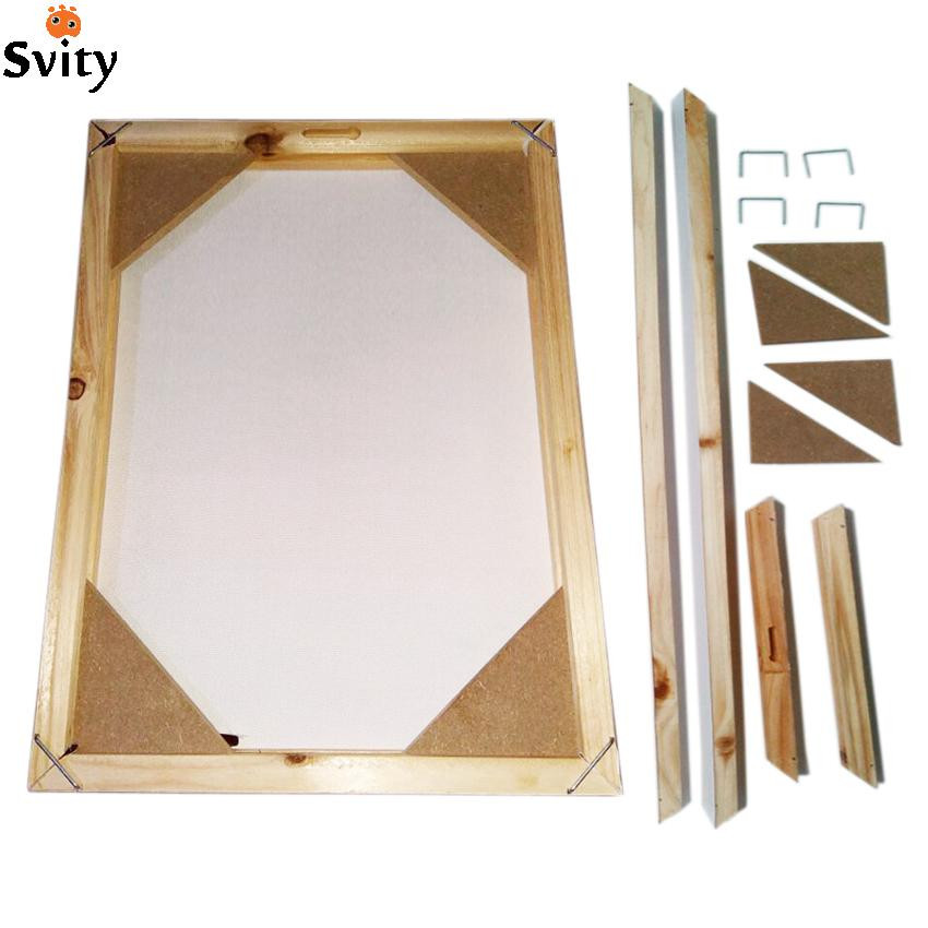 2018 Wood Frame For Canvas Oil Painting Nature Wood DIY Custom Frame ...