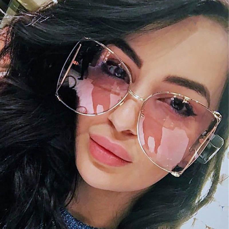 f104ad9ca8 Fashion Oversized Sunglasses Women 2018 Brand Designer Big Square Sun  Glasses Pearl Decoration Cat Eye Shades Butterfly Eyewear Sunglasses For Men  ...