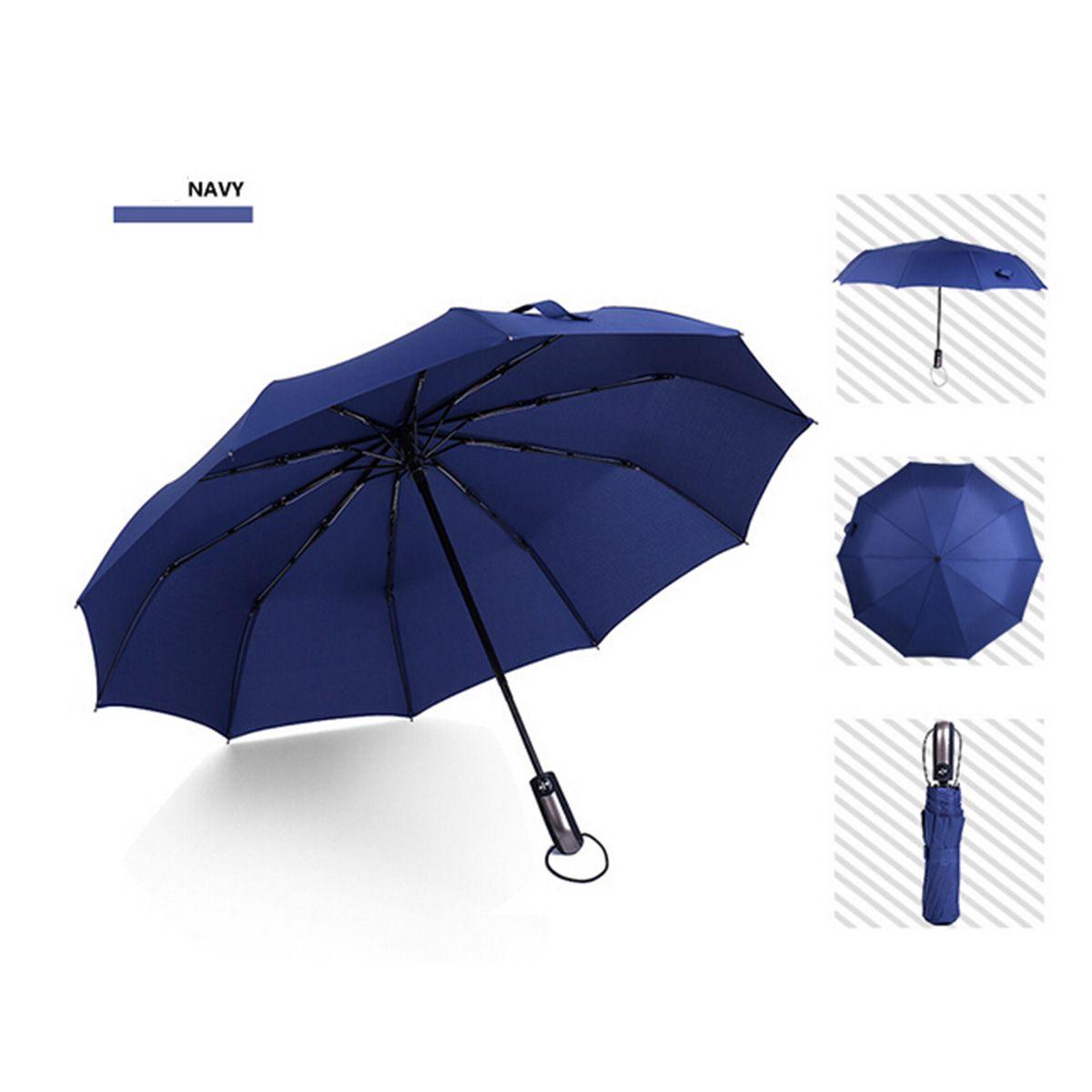 0174b5ec498a Wind Resistant Folding Automatic Umbrella Rain Women Auto Luxury Big  Windproof Umbrellas Rain For Men Black Coating 10K Parasol DHL